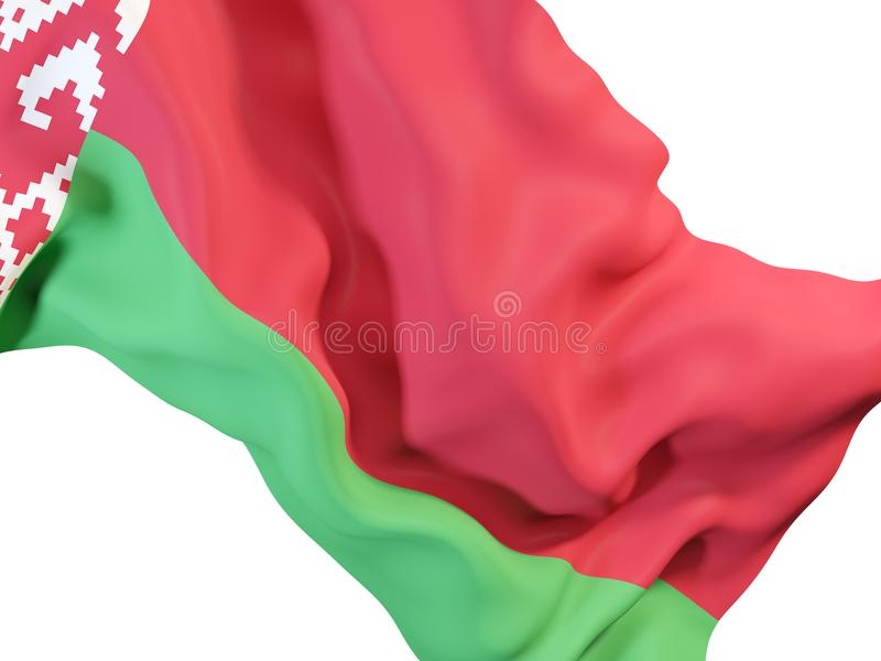 Bandeira de ondulação de Belarus ilustração royalty free