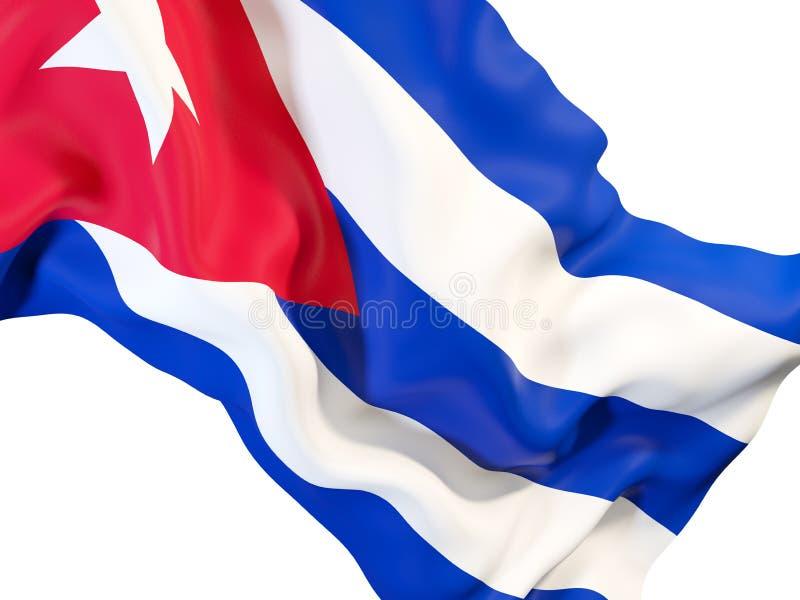 Bandeira de ondulação de Cuba ilustração stock