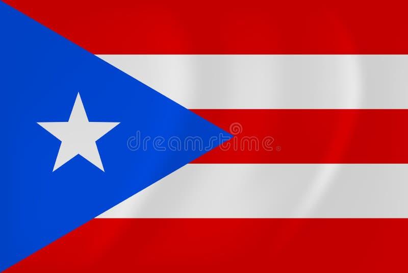 Bandeira de ondulação de Puerto Rico ilustração royalty free