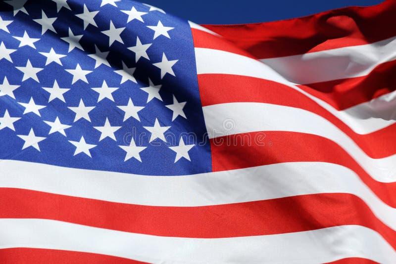 Bandeira de ondulação do Estados Unidos da América imagens de stock royalty free