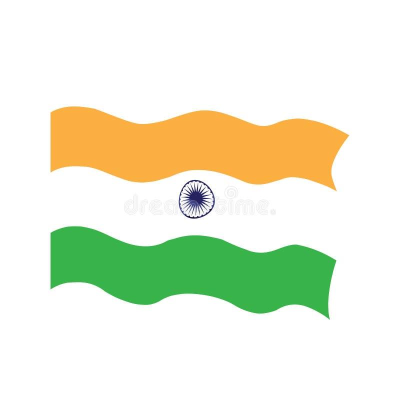Bandeira de ondulação de india ilustração royalty free
