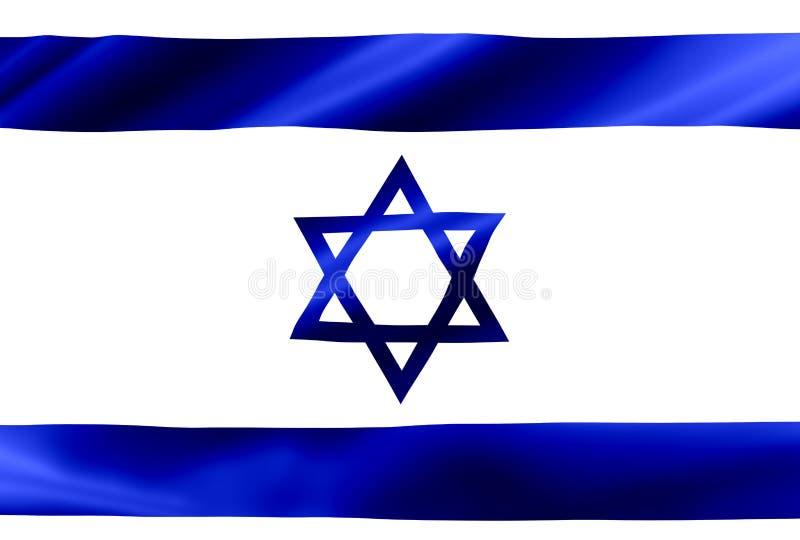 Bandeira de ondulação de Israel ilustração stock