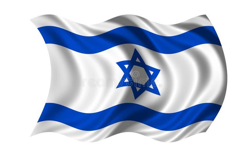Bandeira de ondulação Israel ilustração royalty free