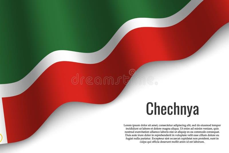 bandeira de ondulação no fundo transparente ilustração royalty free