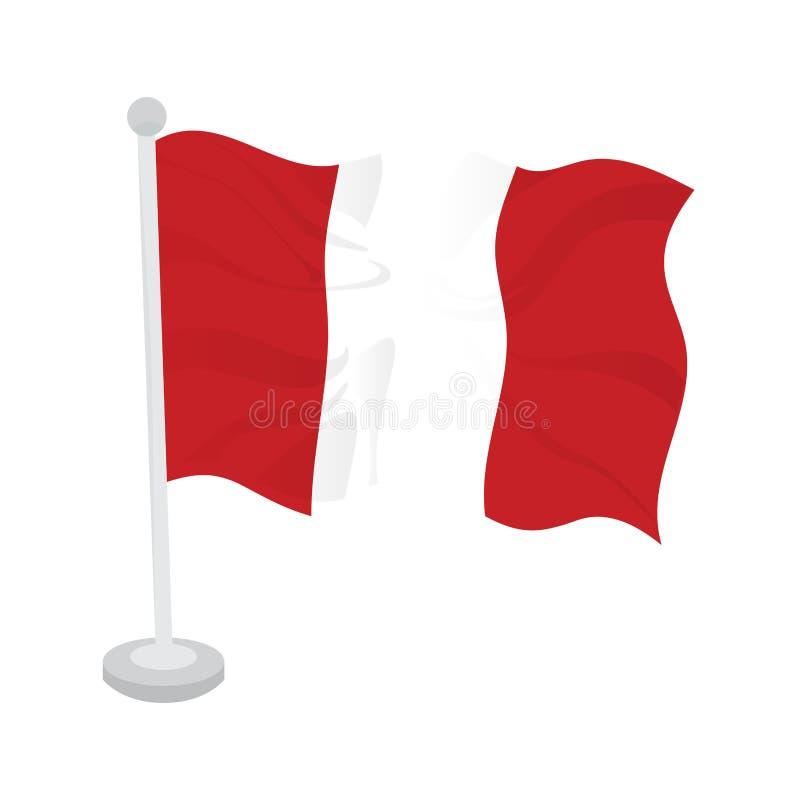 Bandeira de ondulação de Peru ilustração stock