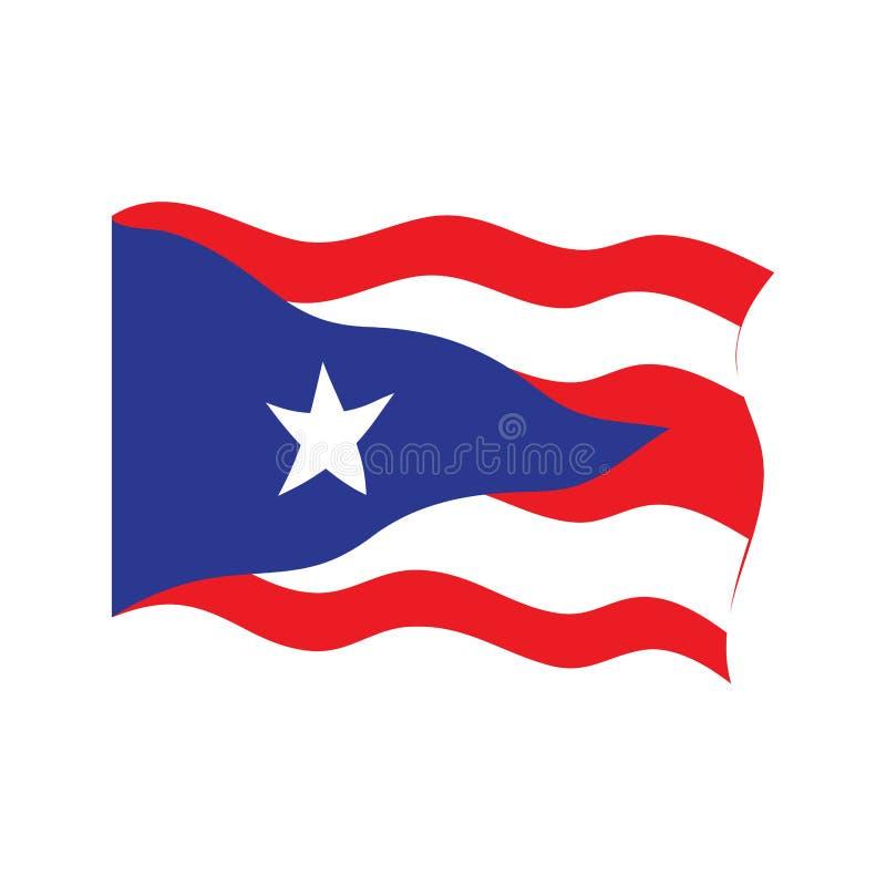 Bandeira de ondulação de Puerto Rico ilustração stock