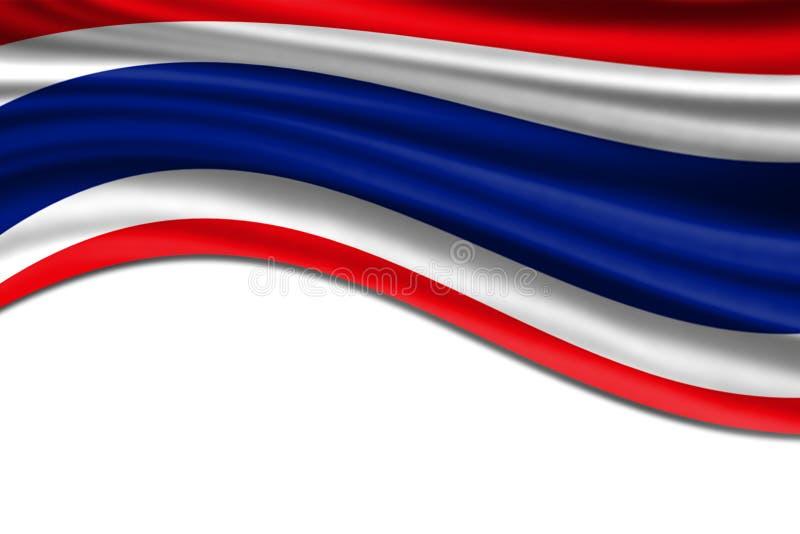 Bandeira de ondulação tailandesa foto de stock royalty free