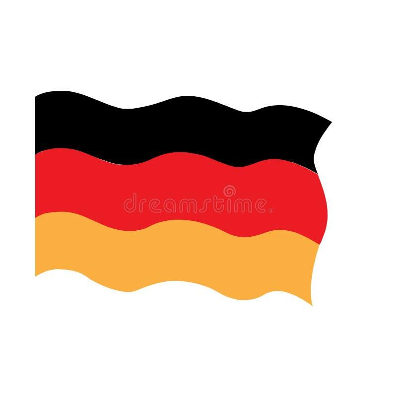 Bandeira de ondula??o de Alemanha ilustração royalty free
