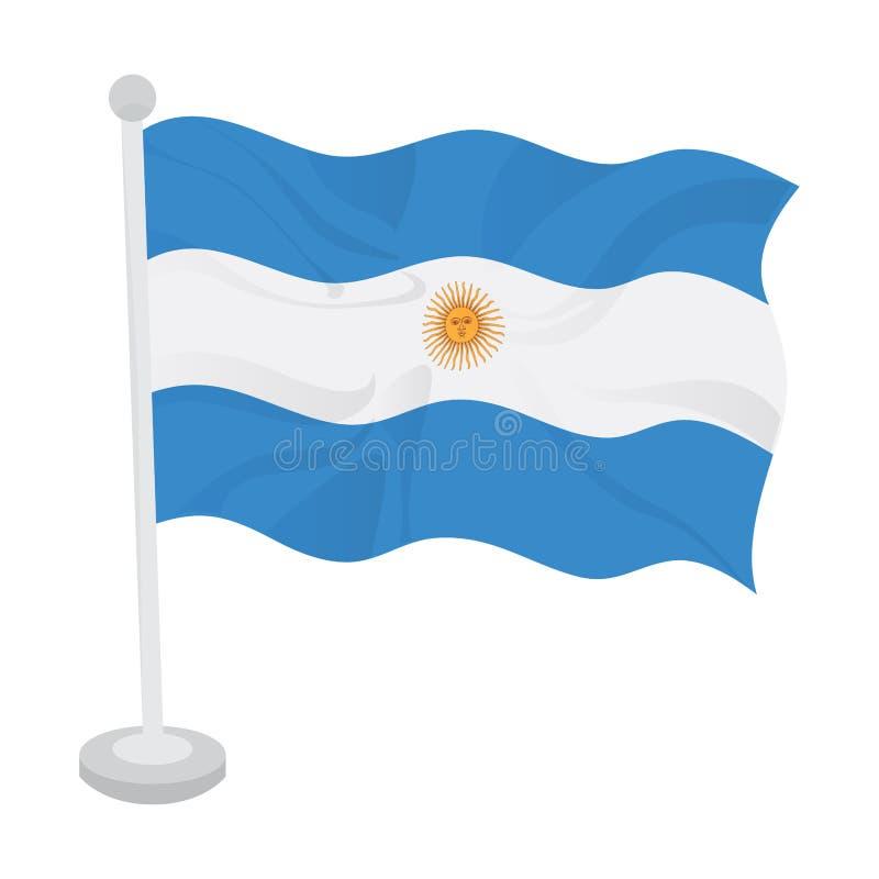 Bandeira de ondula??o de Argentina ilustração royalty free