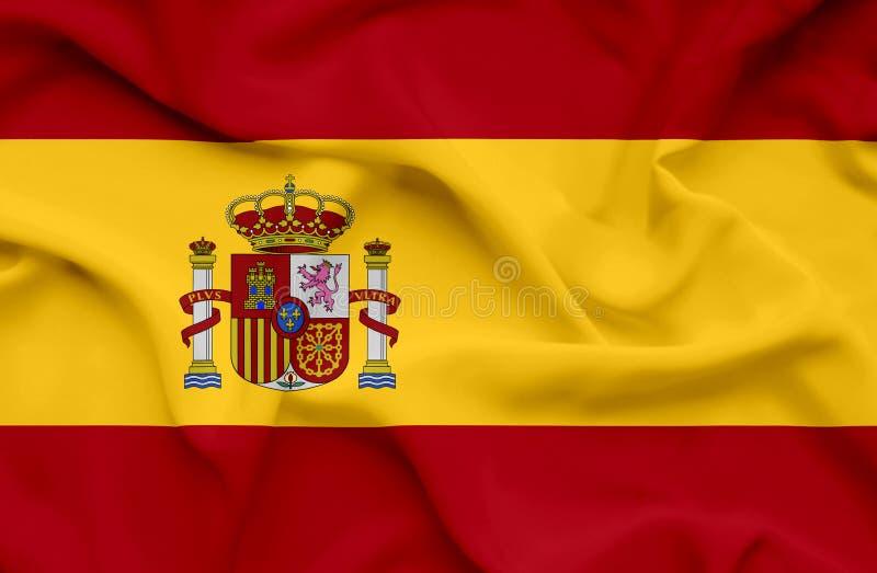 Bandeira de ondula??o da Espanha imagem de stock