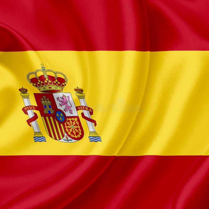 Bandeira de ondula??o da Espanha fotos de stock