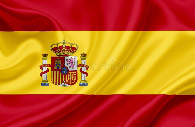 Bandeira de ondula??o da Espanha fotos de stock royalty free