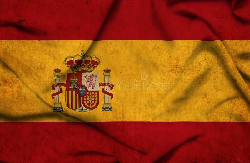 Bandeira de ondula??o da Espanha imagens de stock royalty free