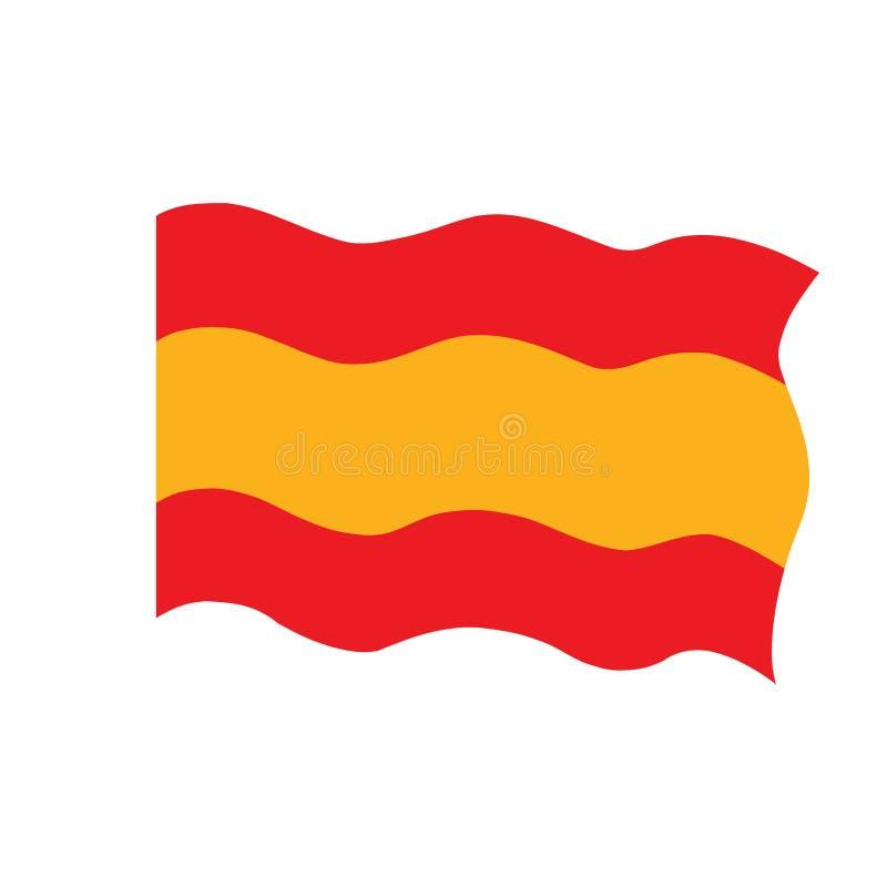 Bandeira de ondula??o da Espanha ilustração do vetor