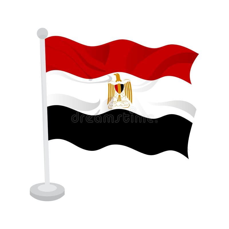 Bandeira de ondula??o de Egito ilustração do vetor