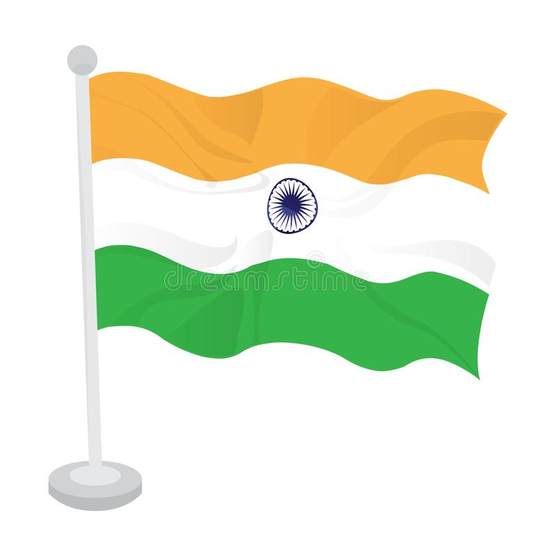Bandeira de ondula??o de india ilustração stock