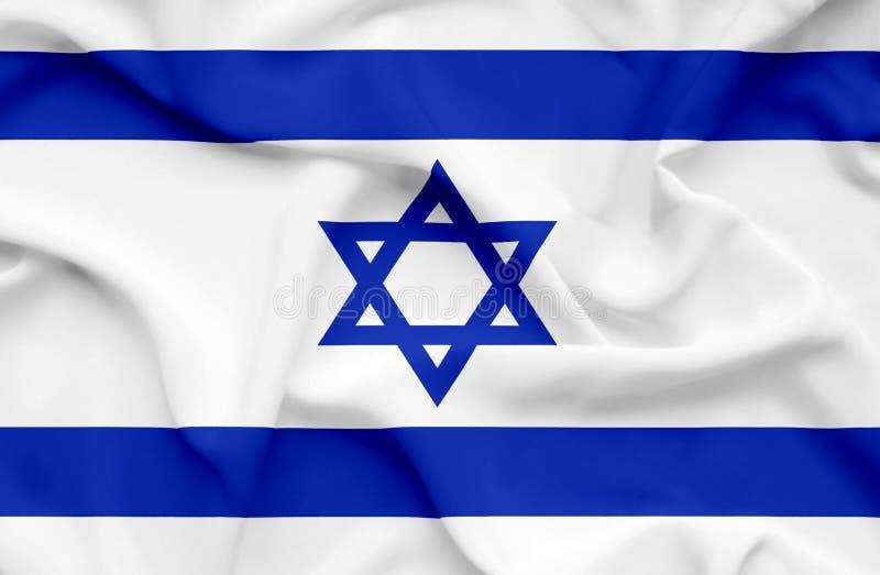Bandeira de ondula??o de Israel ilustração do vetor