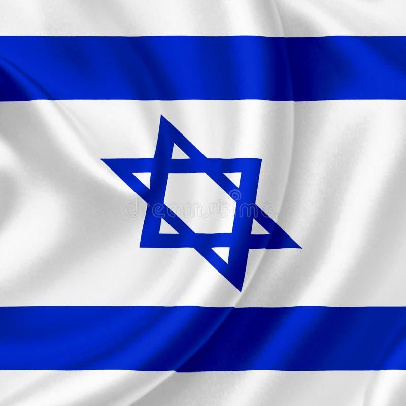 Bandeira de ondula??o de Israel ilustração royalty free