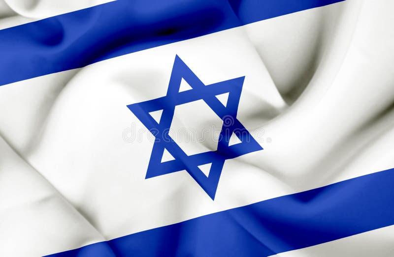 Bandeira de ondula??o de Israel ilustração stock