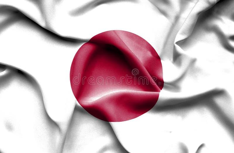 Bandeira de ondula??o de Jap?o ilustração royalty free