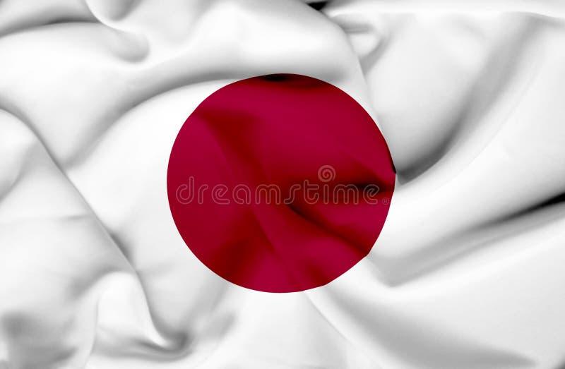 Bandeira de ondula??o de Jap?o ilustração stock