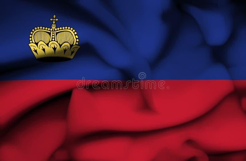 Bandeira de ondula??o de Lichtenstein ilustração royalty free