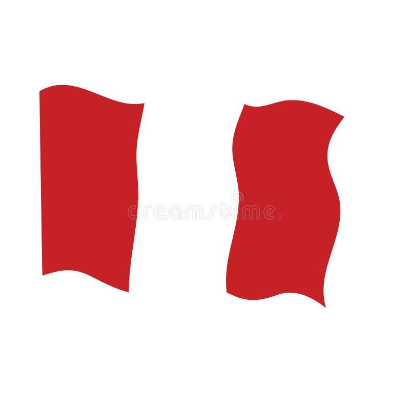 Bandeira de ondula??o de Peru ilustração stock
