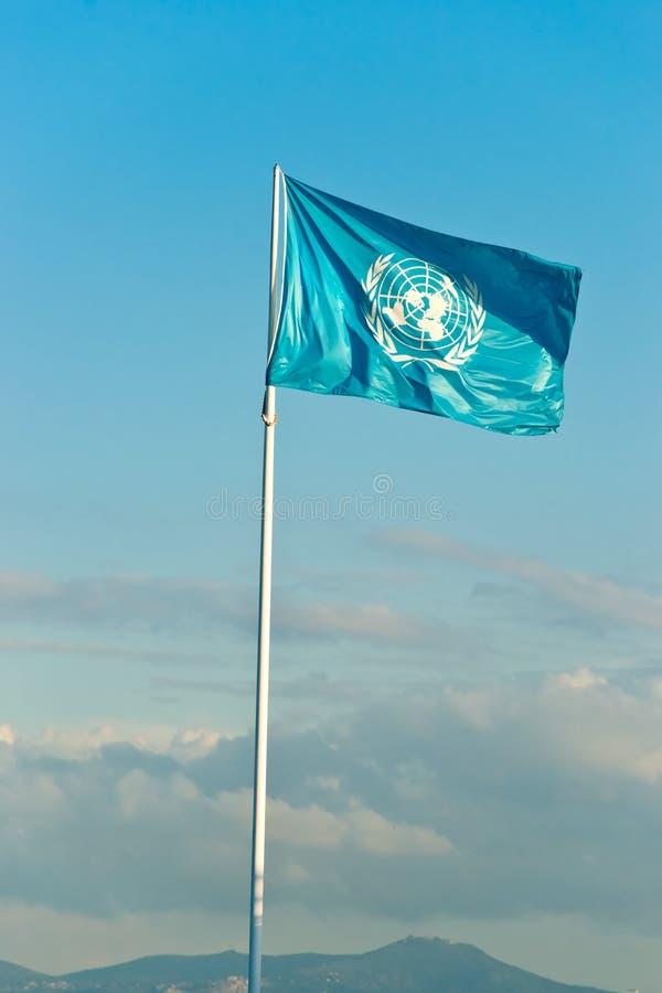 Bandeira de ONU. imagem de stock