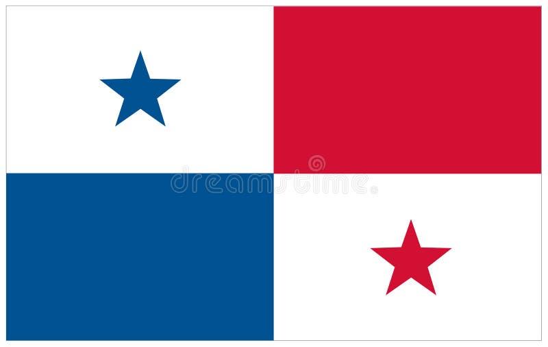 Bandeira de Panamá - bandeira ilustração do vetor