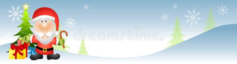 Bandeira de Papai Noel ilustração do vetor