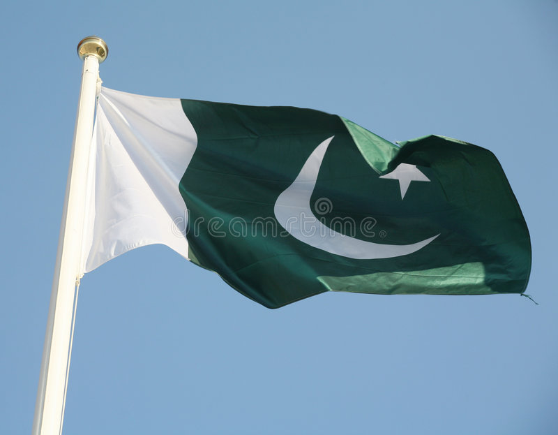Bandeira de Paquistão imagem de stock royalty free