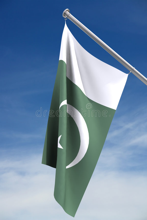 Bandeira de Paquistão   fotografia de stock