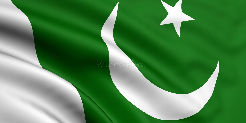 Bandeira de Paquistão ilustração stock