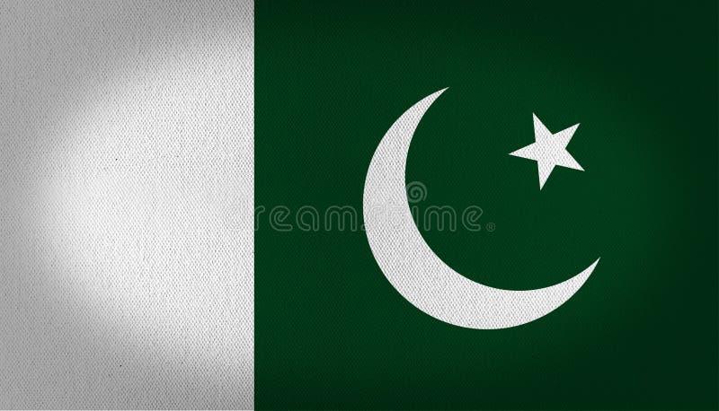 Bandeira de Paquistão ilustração do vetor