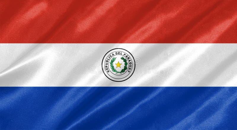 Bandeira de Paraguai ilustração royalty free