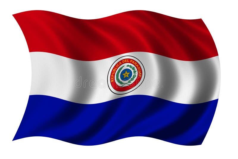 Bandeira de Paraguai ilustração do vetor