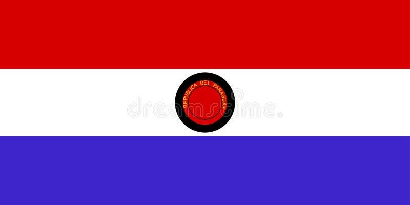 Bandeira de Paraguai ilustração stock