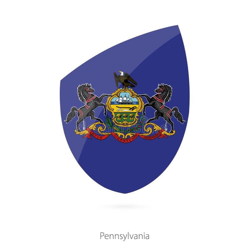 Bandeira de Pensilvânia ilustração do vetor