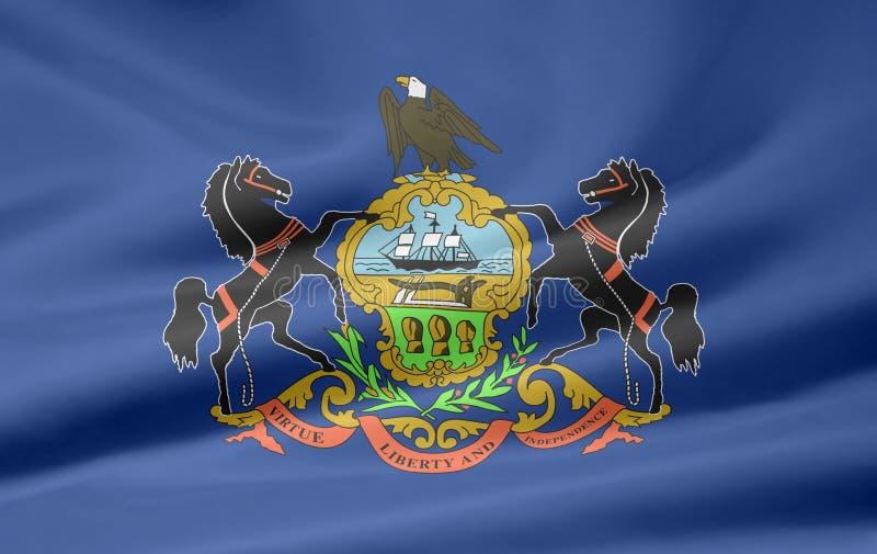 Bandeira de Pensilvânia ilustração royalty free