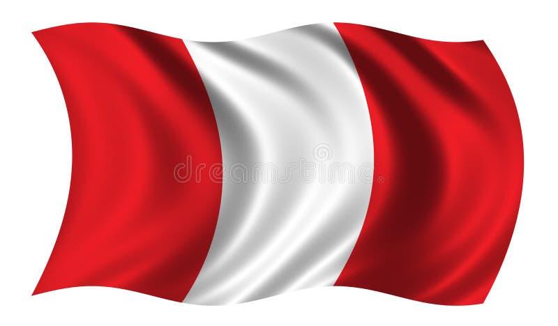 Bandeira de Peru ilustração royalty free