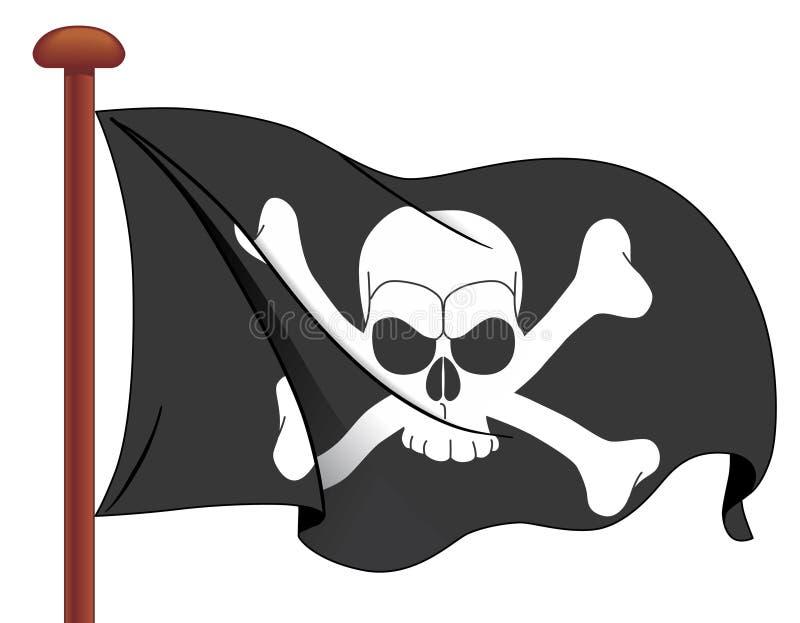 Bandeira de pirata ilustração do vetor