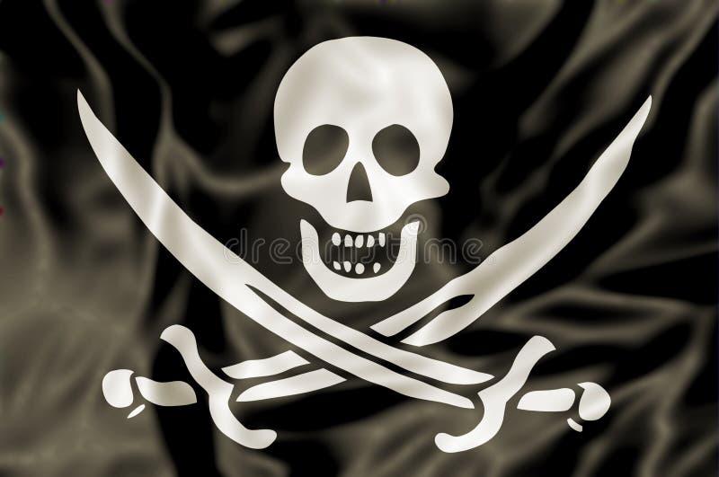 A bandeira de pirata ilustração stock