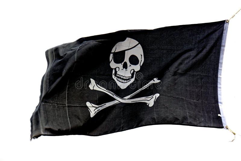 Bandeira de pirata alegre de Roger imagens de stock