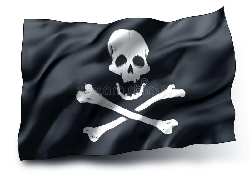 Bandeira de pirata Jolly Roger ilustração stock