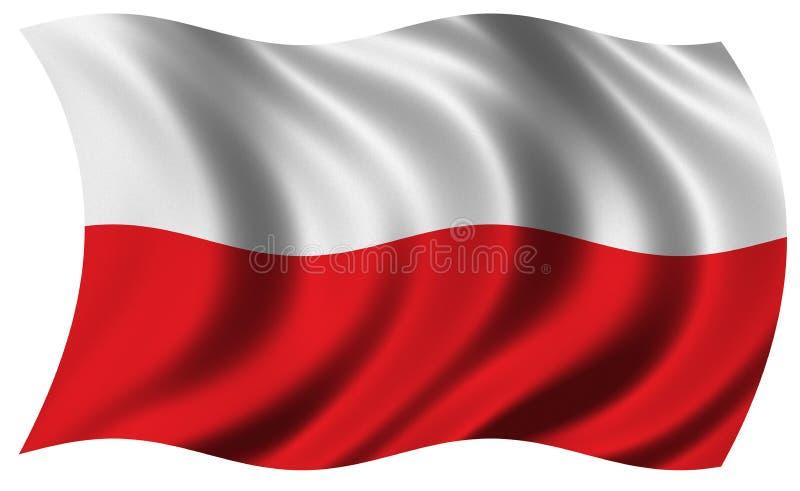 Bandeira de Poland ilustração do vetor