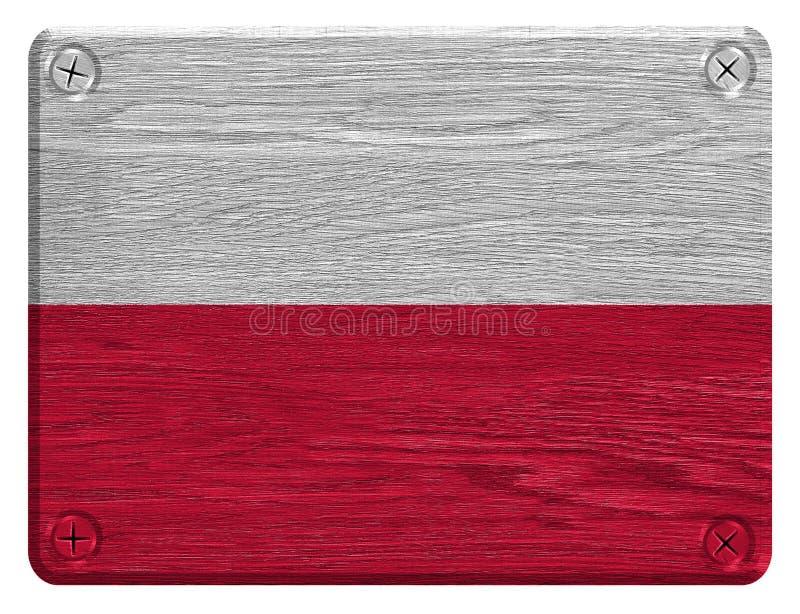 Bandeira de Poland ilustração stock