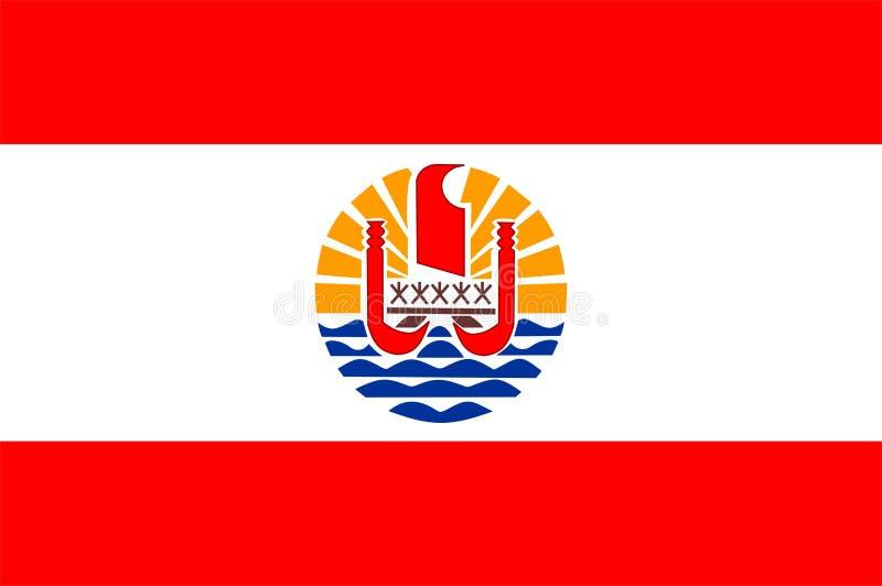 Bandeira de Polinésia francesa ilustração stock