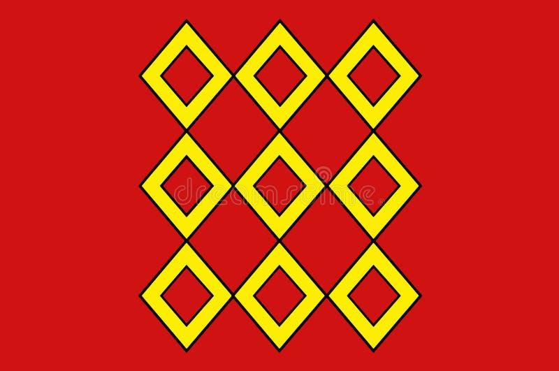 Bandeira de Pontivy em Morbihan de Brittany, França ilustração do vetor
