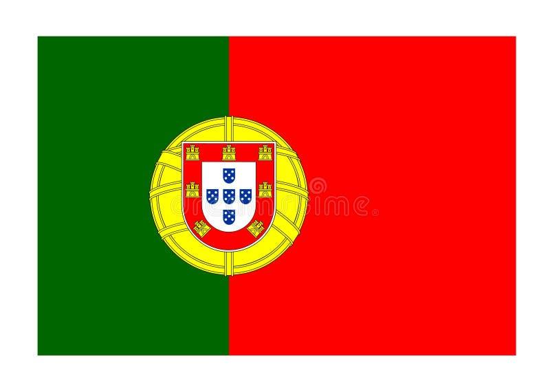 Bandeira de Portugal ilustração royalty free