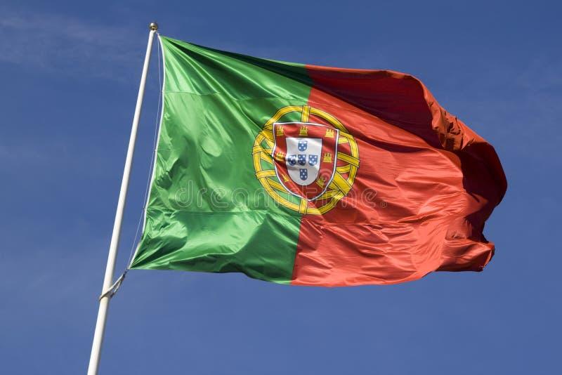 Bandeira de Portugal fotos de stock royalty free